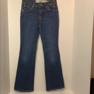 GUC Justice girls flare blue jeans size 12 S